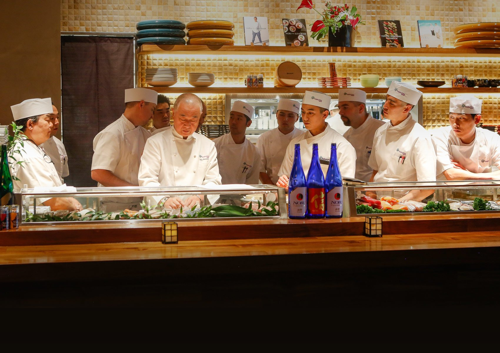 Chef Nobu Matsuhisa and his team